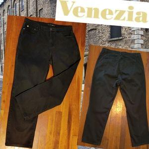🗺️ Venezia Stretch Jeans Black plus size